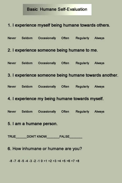 Basic Humane Self-Evaluation