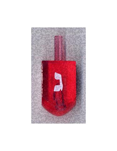 Red Gimel Dreidel from Kenneth Hemmerick's Scanned Chanukah Series where he scanned translucent dreidels on a flatbed scanner.