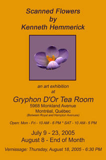Kenneth Hemmerick - Scanned Flowers Exhibit at Gryphon D'Or in Montreal